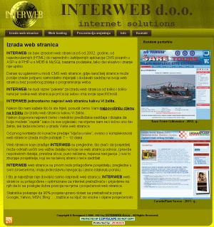 <b>Interweb d.o.o - Izrada weba- 2009. g.</b>