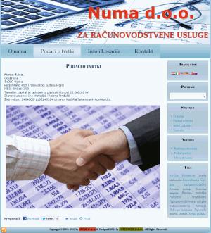 <b>NUMA d.o.o. - Računovodstvo i financije - 2013.</b>