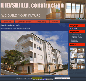 <b>Ilievski Ltd. construction - 2014. g.</b>